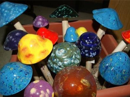 Clay Sculpture Mushrooms
