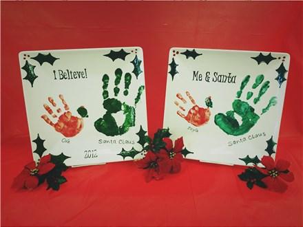 Make a Santa & Me Handprint Plate Appointment