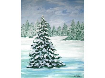 Winter Snowscape - 16x20