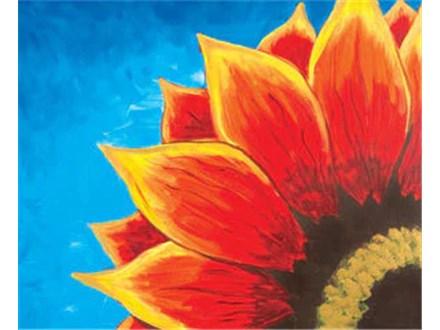 Sun Flower - Resin Pour Canvas - 02.18.21