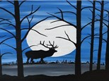 Full Moon Moose Canvas and Cocktails