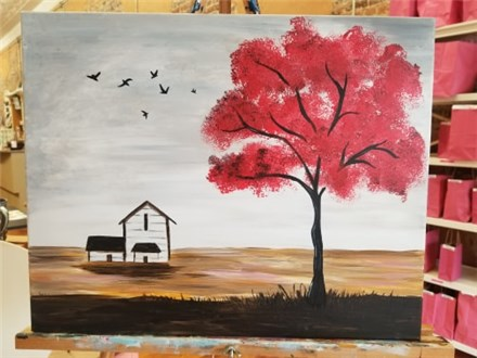 Nov. 5 Red Tree Canvas Class