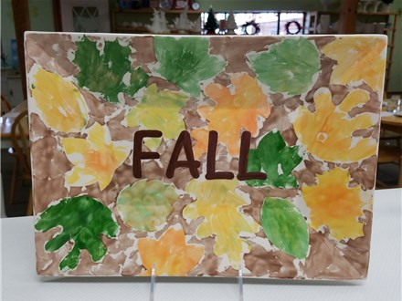 Fall Paper Painting at The Pottery Bug