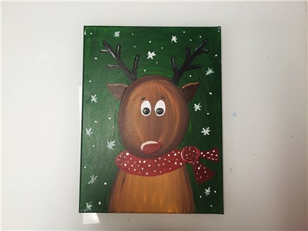 Red Scarf Rudolf (Kids ages 6+) Canvas Class