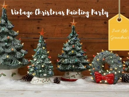 Vintage Christmas Painting Party