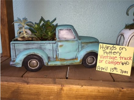 Hands on Pottery - Vintage Truck - April 13th @ 7:00 pm