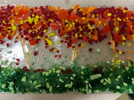 Fused Glass - Sushi Dish Trees