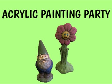Acrylic Pottery Painting Party