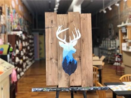 Mountain Deer Wood Board