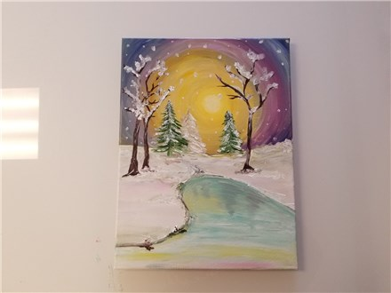 Winter Wonderland Canvas Class (Adult) $35