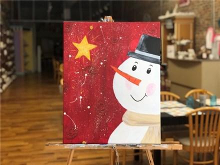Dec. 10 Snowman Canvas