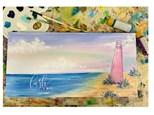 Pink Beach Virtual Paint Class