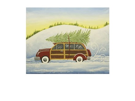 Woody Car Canvas and Cocktails