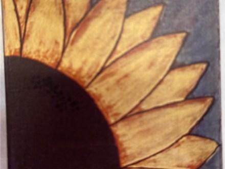 Sunflower Plate - April 24th