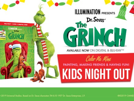 Kids Night Out: the Grinch - Fri, November 15, 2019