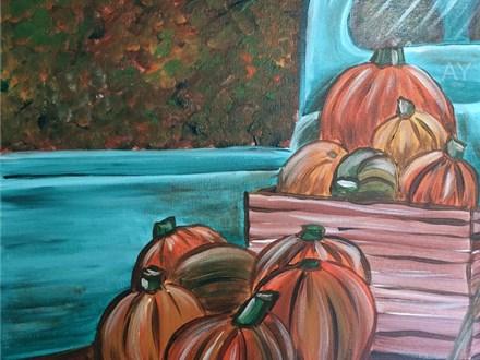 Fall Pumpkin Truck, Adult BYOB Canvas -  October 24th , 6-9 pm