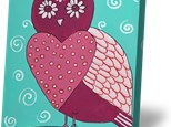 Summer Camp Tuesday, July 10th Heart Owl Canvas