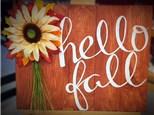 Hello Fall Pallet Board Art - September 18th
