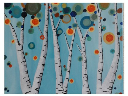 Abstract Birch - Paint & Sip - August 11
