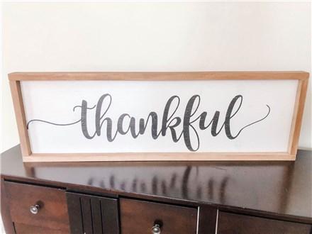 Aug 2nd Thankful Wood Board