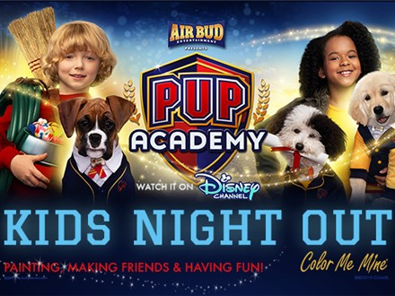 Kids' Night Out: Pup Academy - September 27 @ 6pm