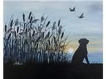 Retriever Sunrise 16x20 canvas