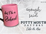 Potty Mouth Pottery Paint and Sip Event  Jan. 24th