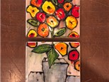Floral Pottery Painting Night! Saturday, April 28th 7-9p