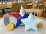 """""""USA Red, White & Blue"""" - Standing Star & Star Plaque: Wednesday, August 5th: 10am-3pm"""