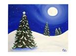 Paint & Sip - Christmas Tree Midnight - Dec. 15 - 7:30 PM