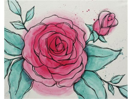 """""""Watercolor Rose"""" Canvas Class, September 23rd"""