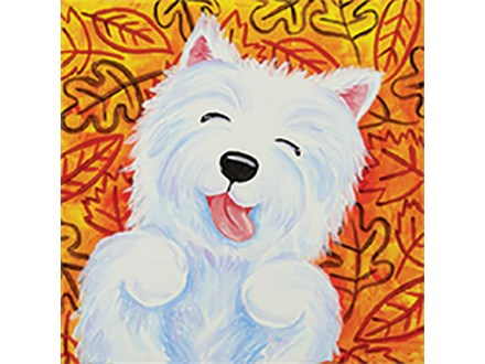 Kid's Canvas - Leaf Pile Pup - 09.10.19
