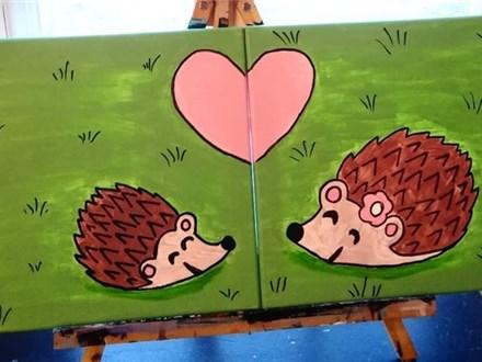 My Little & Me Canvas Class