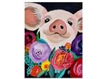 Flower Pig Paint Class