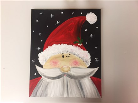 REPEAT Holly Jolly Santa (adult) Canvas Class