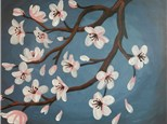 Cherry Blossoms Canvas Class