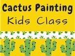 Cactus Painting Class at Color Me Mine - Henderson, NV 09/21/18