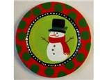 Snwman Plate Kids Ceramic - 12/17