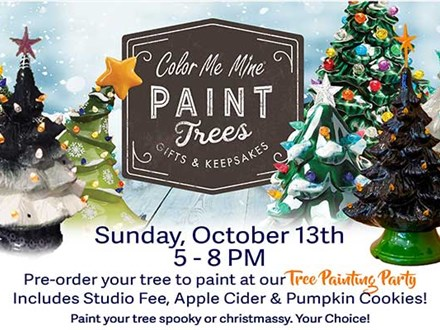 Light-Up Christmas Tree Painting Party - October 13th