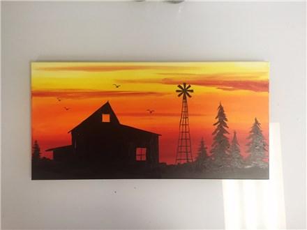 Rustic Barn (adult) Canvas Class