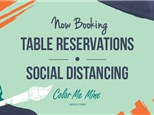 2 Person High Top Table Reservation