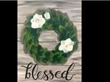 Magnolia Wreath Canvas! Saturday, November 17th @ 6pm