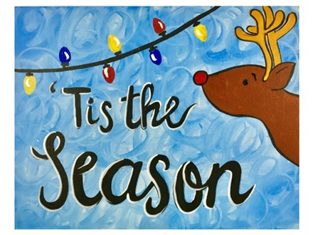 Adult Class Tis The Season Canvas Painting 12/12