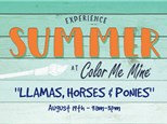Llamas, Horses & Ponies....Oh My - August 19th