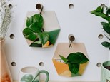 """"""" Hexagon Wall Planter"""" To-Go Kit- at Color Me Mine - Aspen"""