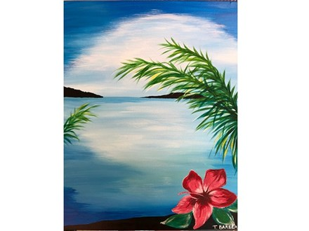 Paint Night at The HONU Restaurant! 7/10/19