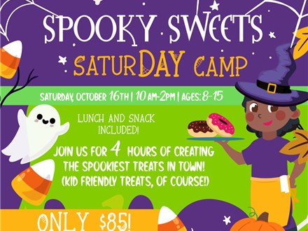 Halloween Spooky Treats SaturDAY Camp (Saturday, October 16th)