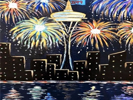SEATTLE CANVAS NIGHT (REPEAT)