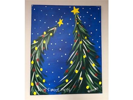 Paint n Sip: 2 Xmas Trees