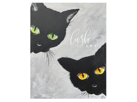 Spooky Cats Paint Class - WR